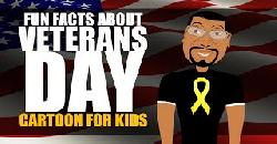 Veterans Day for Kids Cartoon! Learn Fun Facts about Veterans Day for Elementary Students
